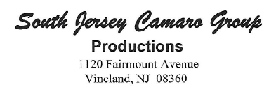 South Jersey Camaro Group Productions